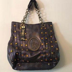 Vintage Christian Audigier Leather Brand New Bag